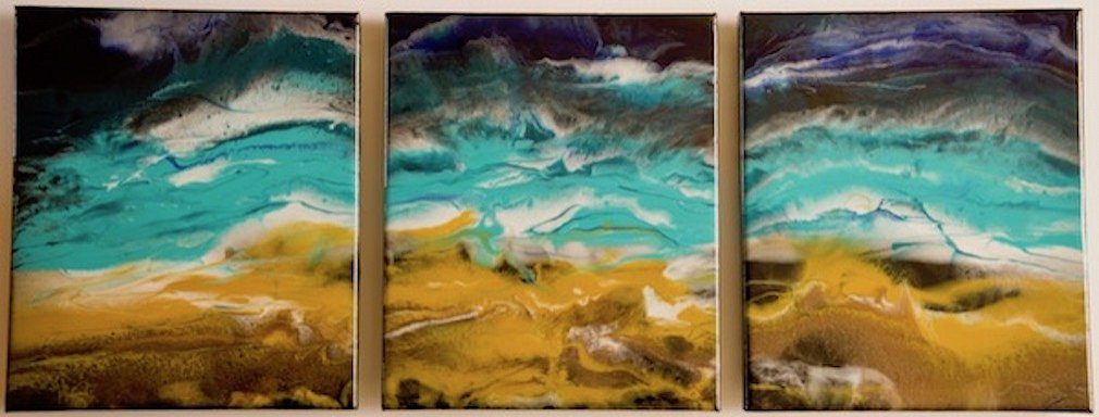 ArtStudioV - Coastal - resin on canvas